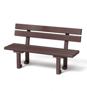 Montážní set plastové lavičky s opěradlem